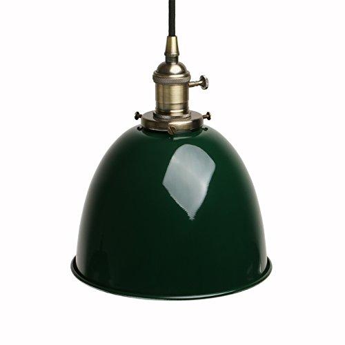 Pathson Industrie Loft-Pendelleuchte Antik Deko Design Metall Schirm innen Pendelleuchte Hängeleuchte Vintage Hängelampen Hängeleuchte Pendelleuchten (Dunkelgrün)