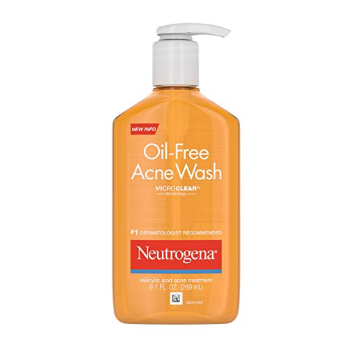 Neutrogena Oil-Free Acne Fighting Facial Cleanser with Salicylic Acid Acne Treatment Medicine, Daily Oil-Free Acne Face Wash for Acne-Prone Skin, 9.1 fl. oz, 3 pk