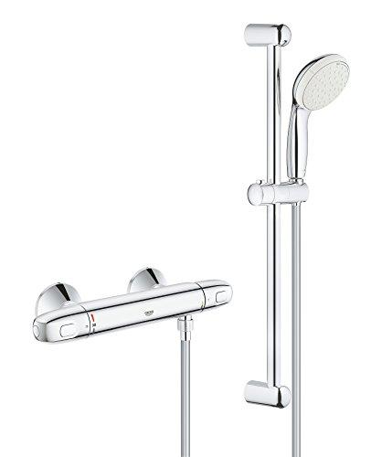 """Grohe Grohtherm 1000 - Conjunto de ducha con termostato de ducha 1/2"""", color cromo (Ref.34151004)"""