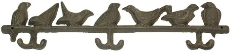 Wall Mounted Hooks Birds Statue Perch Feeder Iron Sculpture Heavy Duty Hanging Coat Keys Hats Holder Indoor Outdoor Home Office Decorative Storage Tool (Set of 2)