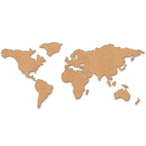 Luckies of London Corkboard Map - Mappamondo in sughero autoadesivo con puntine - Idea regalo viaggio