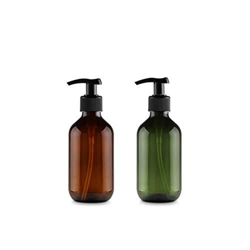 6 Stück 300ml Braun 6 Stück 300ml Grün Leeren Plastikflaschen Lotionsflaschen Lotionspender mit Pumpe für ätherisches Öl Flüssigseife Shampoo auf der Arbeitsplatte von Bad und Küche Pumpe Drücken