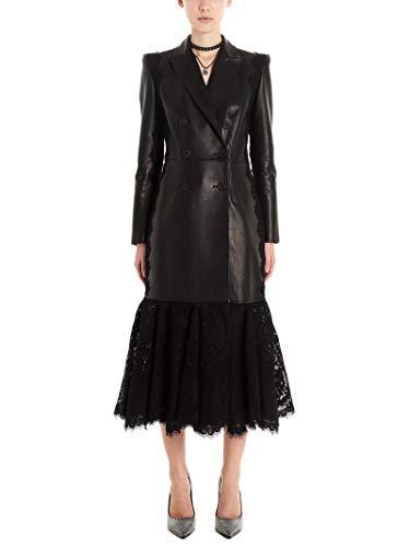 Luxury Fashion | Alexander Mcqueen Dames 610852Q5ADK1000 Zwart Leer Trenchcoats | Lente-zomer 20