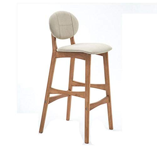 NAN liang Chaise de bar en bois massif Tabourets de hauteur de bar Tabouret de chaise à hauteur de comptoir avec dossier et pieds en bois Chaises ergonomiques, 8 couleurs disponibles (Couleur : E)