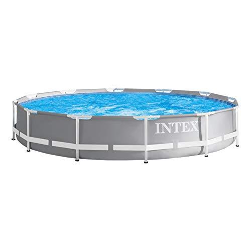 Intex 26712NP Piscina redonda sobresuelo, con depuradora, 366 x 76 ...