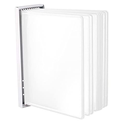 LEVIATAN Sistema de paneles de pared | con 10 paneles de pantalla A4 | Soporte de pared para paneles | Expositor de pared | blanco