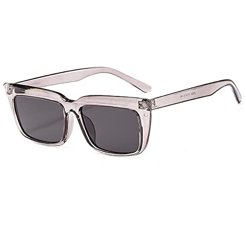 Gafas De Sol Hombre Mujeres Ciclismo Gafas De Sol Cuadradas Vintage para Mujer Gafas De Sol Al Aire Libre para Hombre Gafas De Sol Clásicas De Moda - Gris
