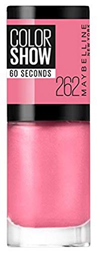 Maybelline New York Make-Up Nailpolish Color Show Nagellack Urban Coral / Ultra glänzender Farblack in leuchtendem Rot (1 x 7 ml)