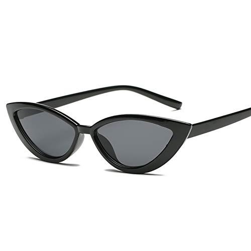 Vintage Black Cat Eye Sunglasses Women Fashion Mirror Small Frame Cateye Sun Glasses For Female Shades UV400 Sunglasses (Color Name : Black)
