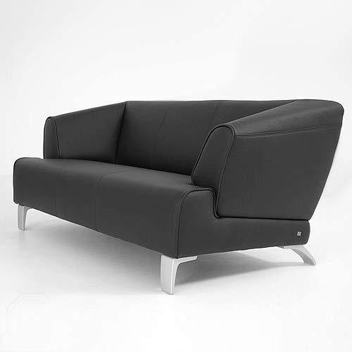 Möbel Akut Rolf Benz Sofa SOB 2300 Leder Couch schwarz 2 Sitzer Sofabank 174 cm breit