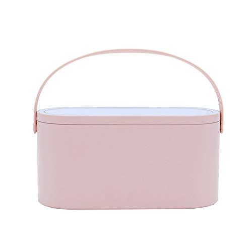 Starall Kosmetische Aufbewahrungsbox Kosmetiktasche Schminktasche, Tragbarer Schminkkoffer Reise kosmeti kkoffer Mit Spiegel und LED-Lichtern -Tolles Geschenk für Mädchen und Frauen