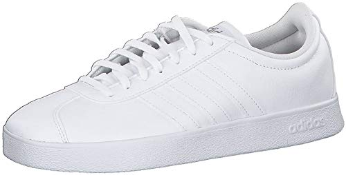 Adidas VL Court 2.0, Zapatillas de Skateboard para Mujer, Blanco (FTWR White/FTWR White/Cyber Met. FTWR White/FTWR White/Cyber Met.), 38 EU
