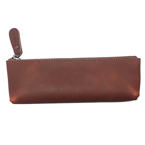 XIDUOBAO in vera pelle fatta a mano, stile Vintage, con astuccio in vera pelle morbida, con porta penna, astucci.