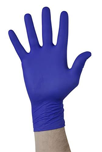 GTSE 100 Packung Einweghandschuhe aus lila blauem Nitril, puder- und latexfrei, Mittlere Größe