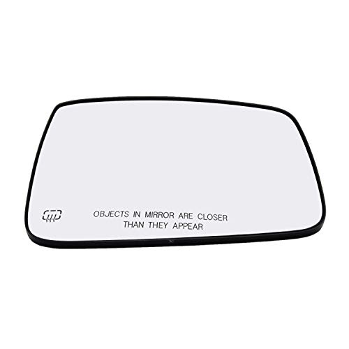 Right Hand Passenger Side Mirror Assembly Plastic Backing Plate Heated Defrost Glass Compatible With Dodge RAM 1500 2500 3500 4500 11 Inch Diagonal Sold By Rugged TUFF