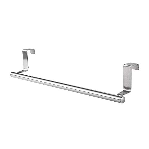 IWILCS Edelstahl Handtuchhalter, Handtuchstange Küchenschrank Geschirrtuchhalter zum Einhängen, Handtuchhalter Tür Geschirrtuchhalter Küchenschrank für Küchenschranktür und Badezimmertür