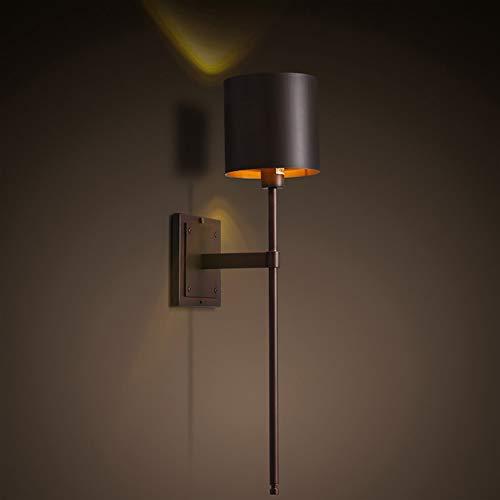 JFHGNJ Wandlamp, industrieel restaurant zwart wandlamp slaapkamer minimalistisch gang trap nachtkastje wandlamp LED binnen