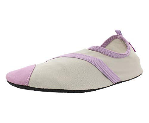 FitKicks Original Women's Foldable Active Lifestyle Minimalist Footwear Barefoot Yoga Sporty Water Shoes Grey Size: Small from Fitkicks