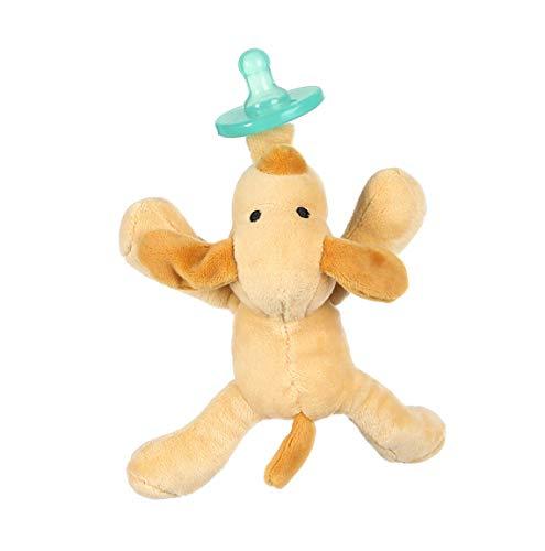 Fopspenen Baby, Gevuld Fopspeen van BPA-vrij voor baby's 0-6 maanden Pluchen speelgoed Inclusief verwijderbare fopspeen