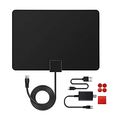 MECO TV Aerial Indoor TV Antenna Ultra-Thin Amp...