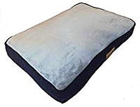 Ellie-Bo hondenbed voor kooi of transportbox, 76,2 cm, medium, 71 cm x 48 cm, zijkanten van cord blauw, bovenkant van kuns...