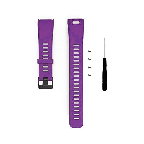 Armband für Garmin Vivosmart HR Weiches Silikon Uhrenarmband Sports Ersetzerband Erstatzband mit Schließe Sports Replacement Strap Uhrenarmbänder Verstellbares Zubehör Uhrenarmband (Lila)