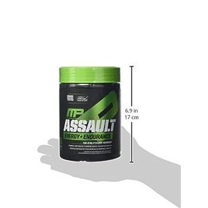 musclepharm Assault Sport 30 Servings Pre-Workout Protein Mix, Green Apple