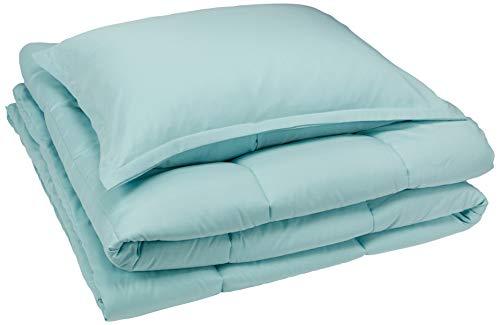 Amazon Basics Comforter Set, Twin / Twin XL, Sea Foam Green, Microfiber, Ultra-Soft