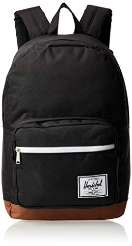 Herschel Pop Quiz Backpack, Black/Saddle Brown, Classic 22L