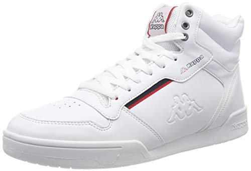 Kappa Unisex-Erwachsene Mangan Sneaker, Weiß White 242764 1020, 37 EU