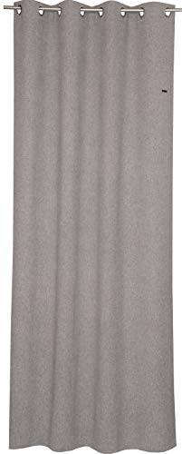 ESPRIT Ösen Vorhang hellgrau Blickdicht • Gardinen Vorhang 2er Set • Ösenschal 140 x 250 cm Harp • 100% Polyester