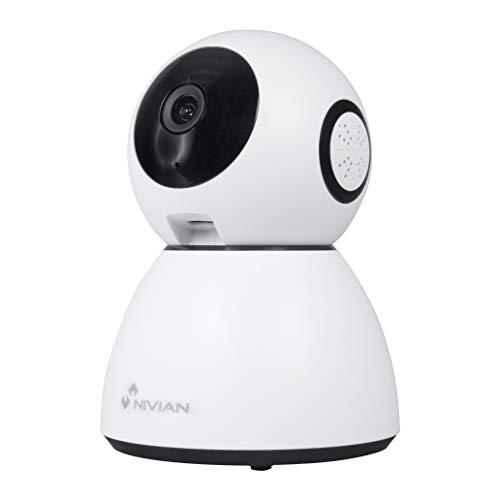 Nivian cámara domo 360º Wifi 2.4Ghz-Grabación en MicroSD(No incluida)-FullHD-Audio bidireccional- Apta para interior- Compatible con Amazon Alexa, Google Home y APP Tuya-Detección de movimiento