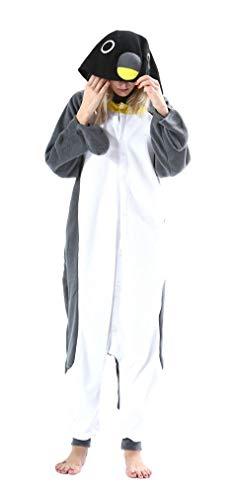 SAMGU Tier Onesie Pyjama Cosplay Kostüme Schlafanzug Erwachsene Unisex Animal Tieroutfit tierkostüme Jumpsuit Grauer Pinguin M