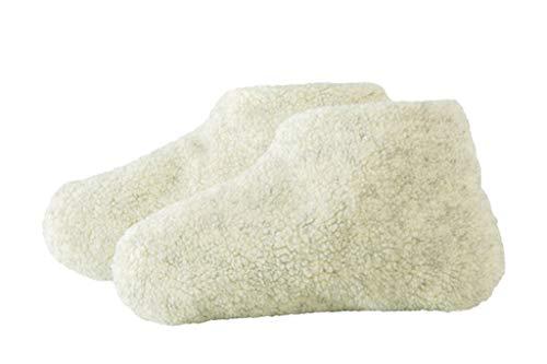 Bettschuhe Fußwärmer Pantoffelstiefel mit weicher Weizenfüllung Gr ca 37-39
