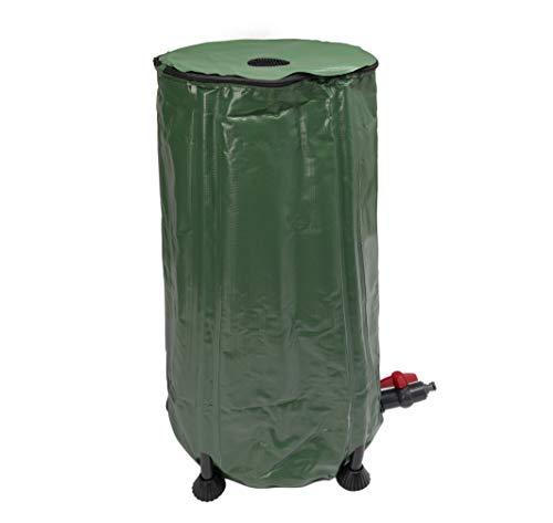 Beslands雨水タンク 100L 貯水タンク 折りたたみ式 ウォーターバケツ 洗車 水やり 防災 屋外用 園芸植物灌漑可能 レインバレル 貯水用品 グリーン