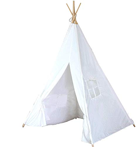 Teepee Tent for Kids | Tipi Tents Indoor Outdoor | Play Tent Foldable 5 Feet Tall 4 Poles |...