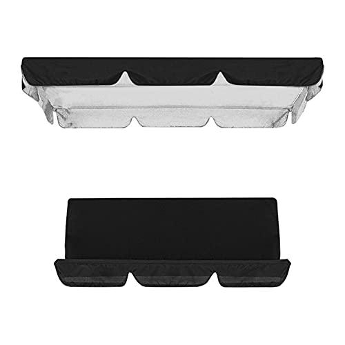 Cubierta impermeable para columpio, toldo y silla de jardín, protección solar (negro)