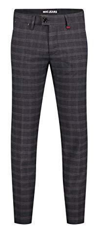 MAC Jeans Herren Lennox Hose, 195K Night Blue Check, 34/32