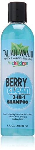 Taliah Waajid Kinky, Wavy & Naturals Children Berry Clean 3-In-1 Champú 236 Ml/8Oz (Niños) 236 ml