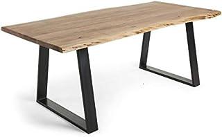 LF SALON Table de Salle à Manger Sono 220 x 100 Acacia Massif et métal