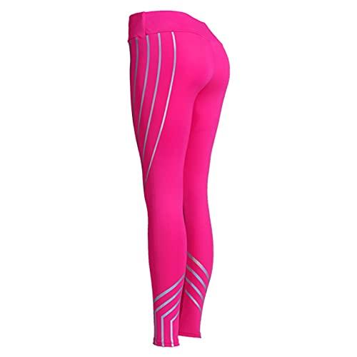 Astemdhj Leggings Pantalones Fitness Yoga Moda Mujer Leggings Slim Cintura Alta Elasticidad Impresión De Fitness Pantalones Transpirables para Mujer S Rosa