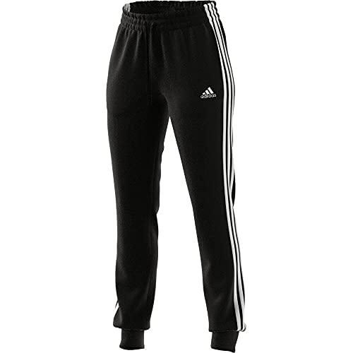 adidas Damen Essentials French Terry 3-Streifen Hose, Black/White, M/S
