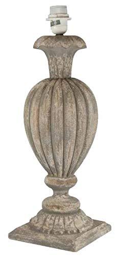 Quaint & Quality – Lampenfuß Ballon aus Holz, Grau