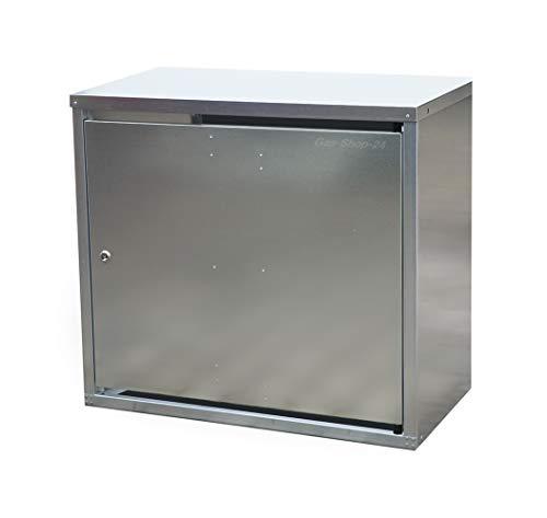 2 x 11 kg Propangas Bauwagen-Flaschenschrank/Gasflaschenschrank verzinkt mit Boden (geeignet für 3-, 5, 10, 11 kg Gasflaschen - Gasschrank Schutzschrank)