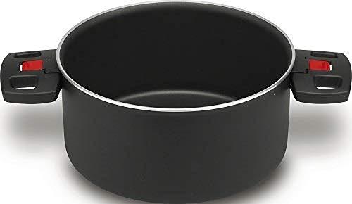 BALLARINI Click+Cook Kochtopf, Antihaftbeschichtet, 20 cm, Aluminium/Kunststoff-Griffe, schwarz
