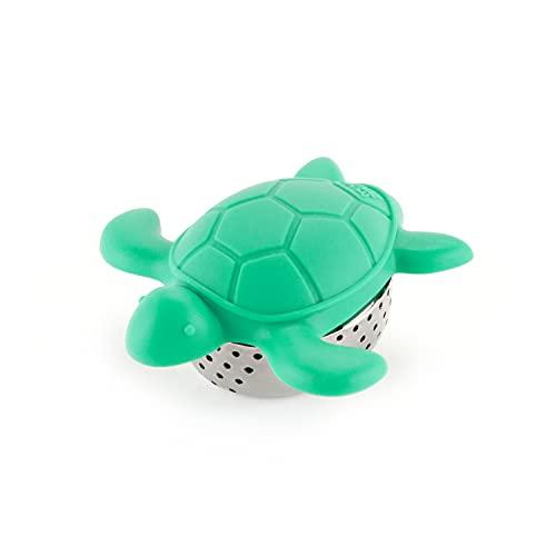 Infusor de chá de tartaruga em aço inoxidável e silicone em forma de tartaruga da TrueZoo