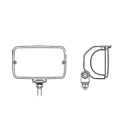 Hella 1GA 998 522-011 Arbeitsscheinwerfer - Picador 8522 - FF/Halogen - H3 - 12V/24V - Anbau - hängend/stehend - Bodenausleuchtung