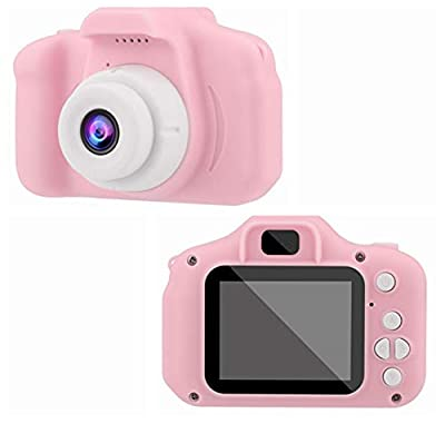 Children's Digital Camera 2.0 LCD Mini Camera HD 1080P Children's Sports Camera - Digital Cameras Toys - Rechargeable Camera Shockproof for Kids Toddler Indoor Outdoor Travel (Pink)