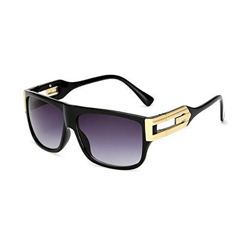 Sonnenbrille Herren Fashion Square Sonnenbrille Mann Fahren Vintage Sonnenbrille Frauen Paar Lady Brillen Uv400 C2Black-Grey