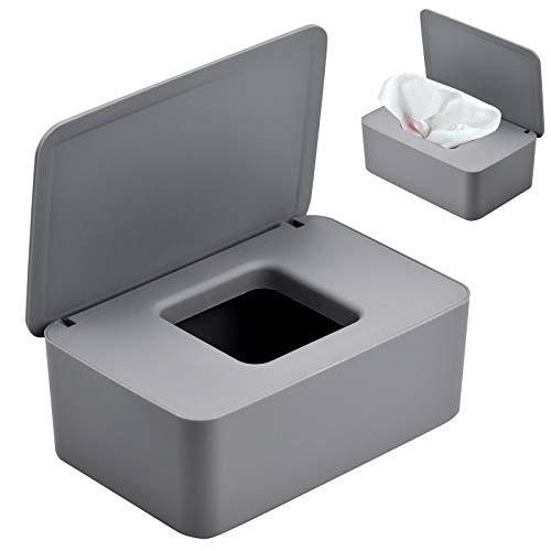 TDDL Caja Toallitas Húmedas, Dispensador de Toallitas Húmedas Caja de Toallitas para Bebé Caja de Almacenamiento de Pañuelos con Tapa para Oficina en Casa